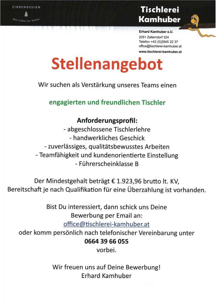 Stellenangebot-Tischlerei_Web